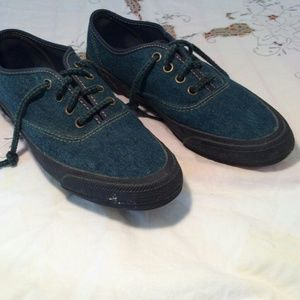 Keds Dark denim with dark sole and dark strings